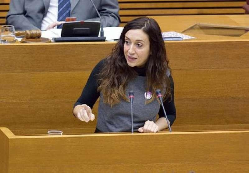 La diputada de Compromís i portaveu de Sanitat, Isaura Navarro.