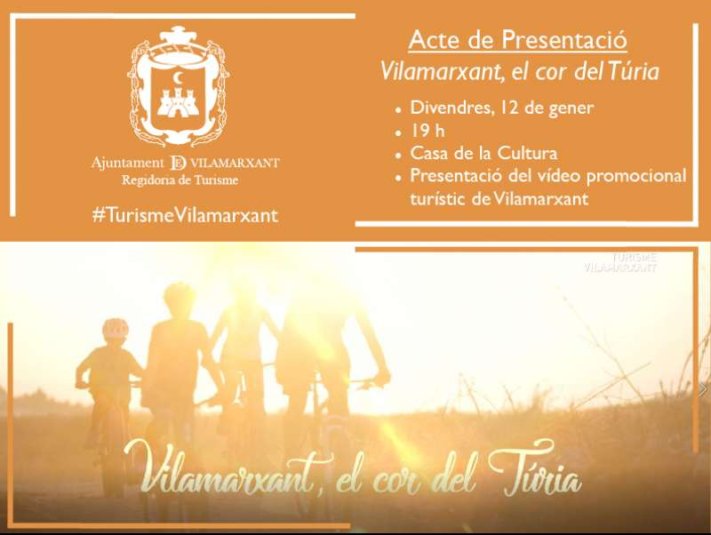 Vilamarxant presenta el vídeo turístic del municipi, el divendres 12 de gener