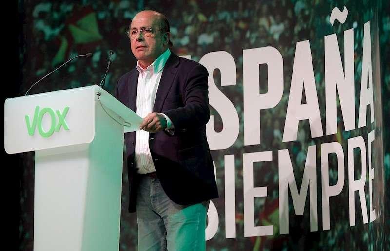 El cabeza de lista de Vox por Valencia, Ignacio Gil Lázaro, durante un mitin. EFE/Kai Försterling