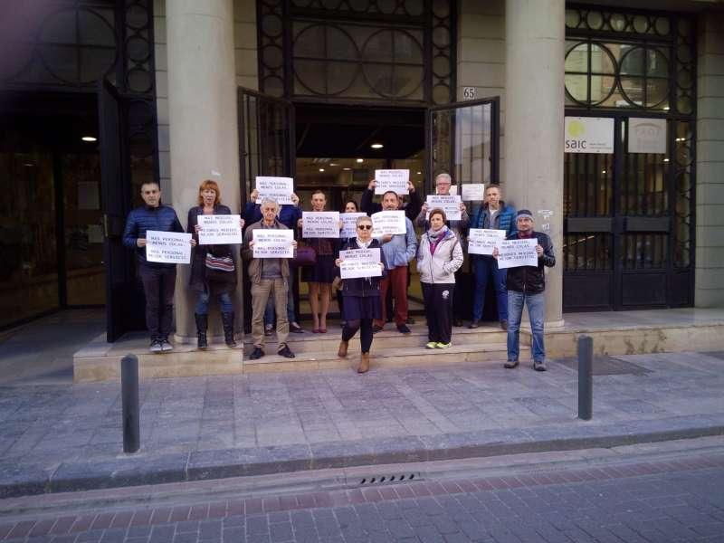 Protesta en Sagunt de los trabajadores del SAIC. EPDA