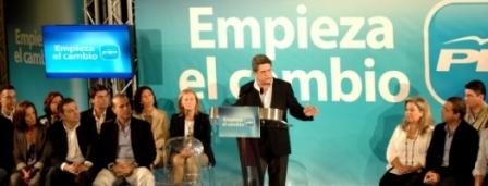 Federico Trillo es el cabeza de la lista del PP de la provincia de Alicante para el Congreso de los Diputados. Foto ppcv.com