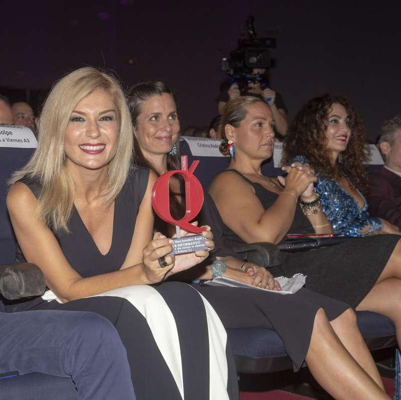Sandra Golpe, presentadora de Antena 3 Noticias, en los II Premios Nacionales Aquí TV. FOTO ELVIRA FOLGUERÀ