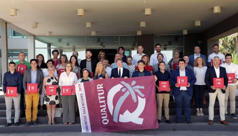 Entrega de banderas Qualitur en el Centro de Turismo de Castelló. GVA