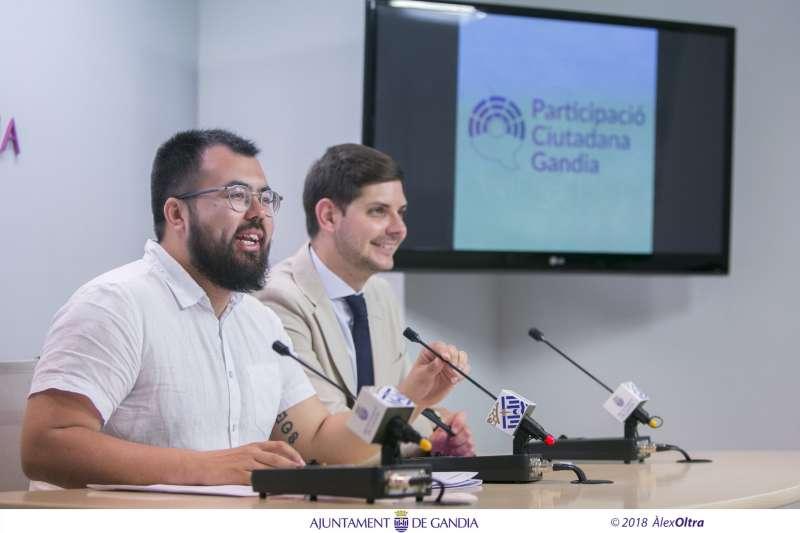 El regidor de Polítiques Amb la Ciutadania i l?edil d?Administració, Modernització i Govern Obert de Gandia