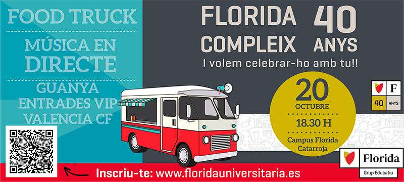 Cartel de la fiestas de Florida Grup Educatiu de Catarroja. EPDA