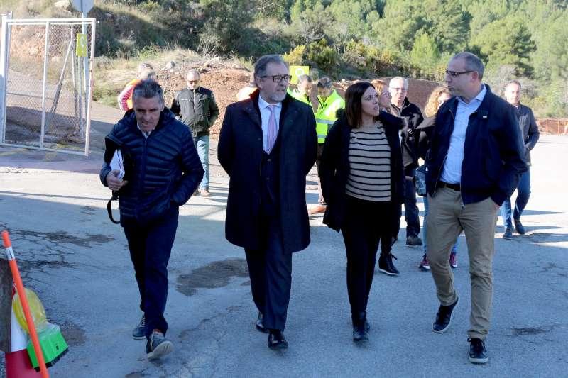 La alcaldesa en una reciente visita del Pte. de la Diputación