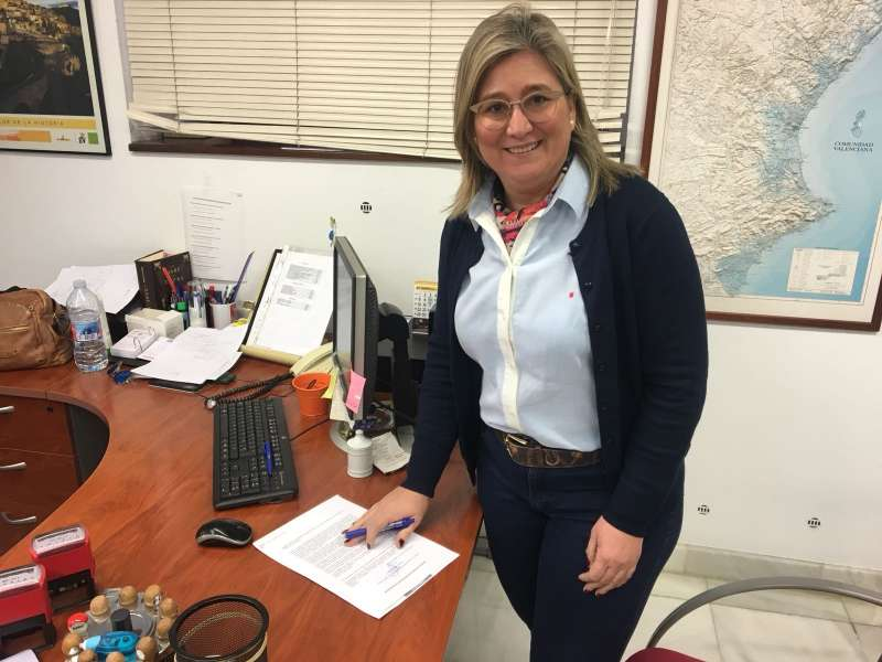 La portavoz de Ciudadanos (Cs) en la Diputación, Mamen Peris.