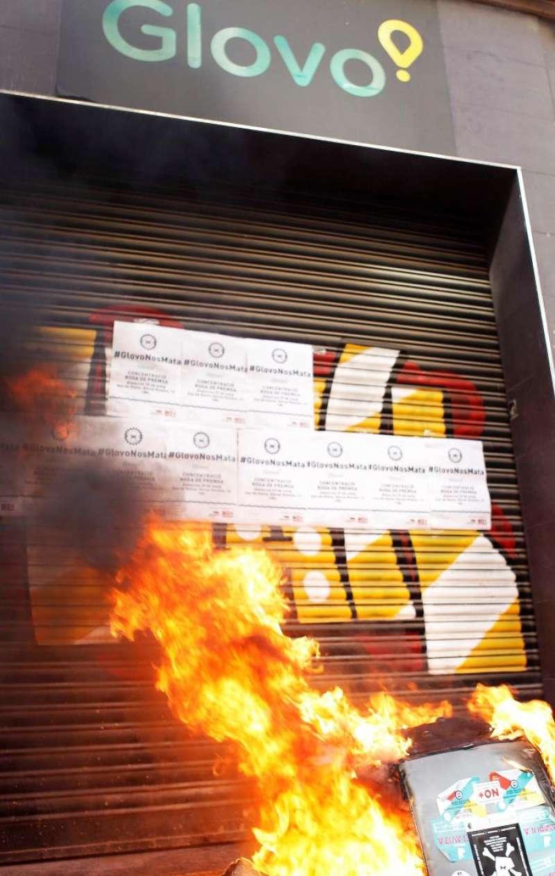 Momento de la protesta. EFE / Ana Escobar