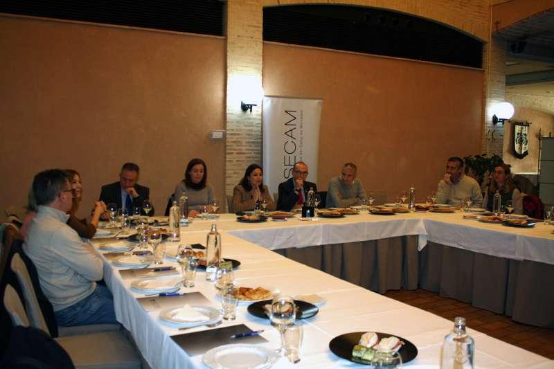 Encuentro de Asecam con empresarios de Les Valls. EPDA