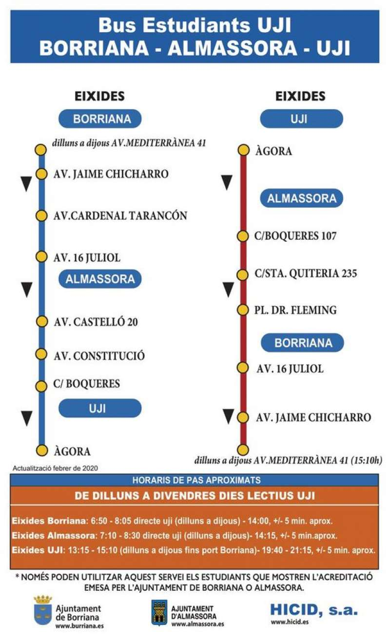 Horaris del bus/EPDA