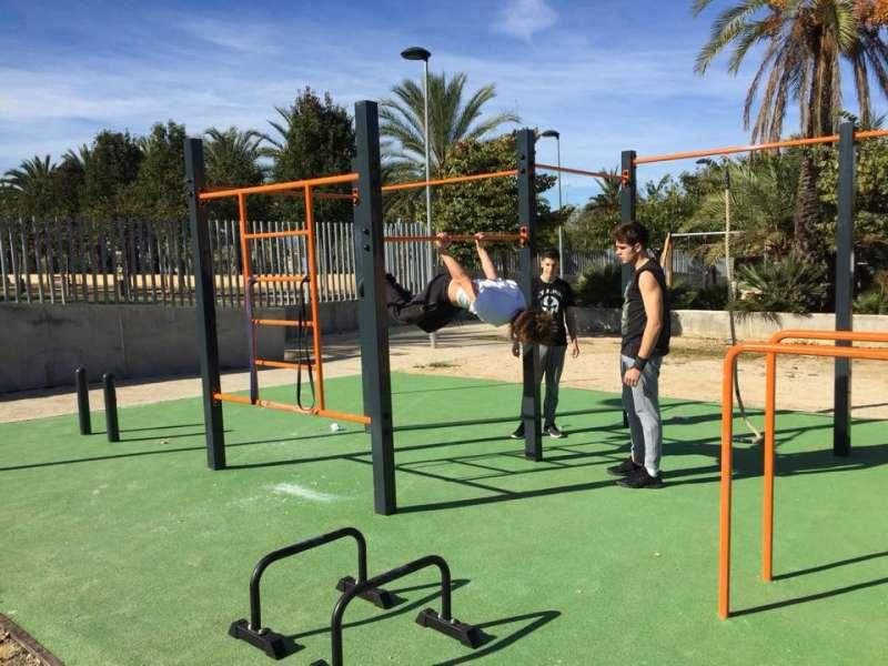 El parque de Calistenia ya está operativo