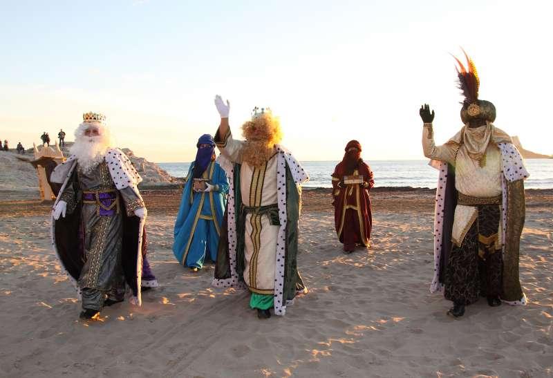 Los Reyes Magos llegando a Teulada y Moraira.//EPDA