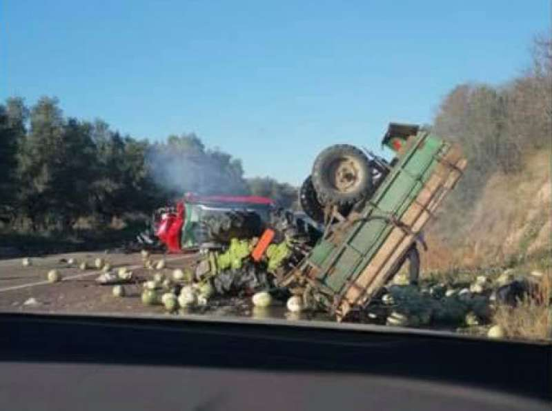 Aparatoso accidente en Jérica