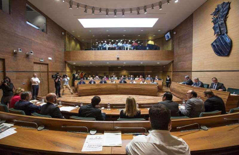 Un pleno de la Diputación de Valencia. EFE/Archivo