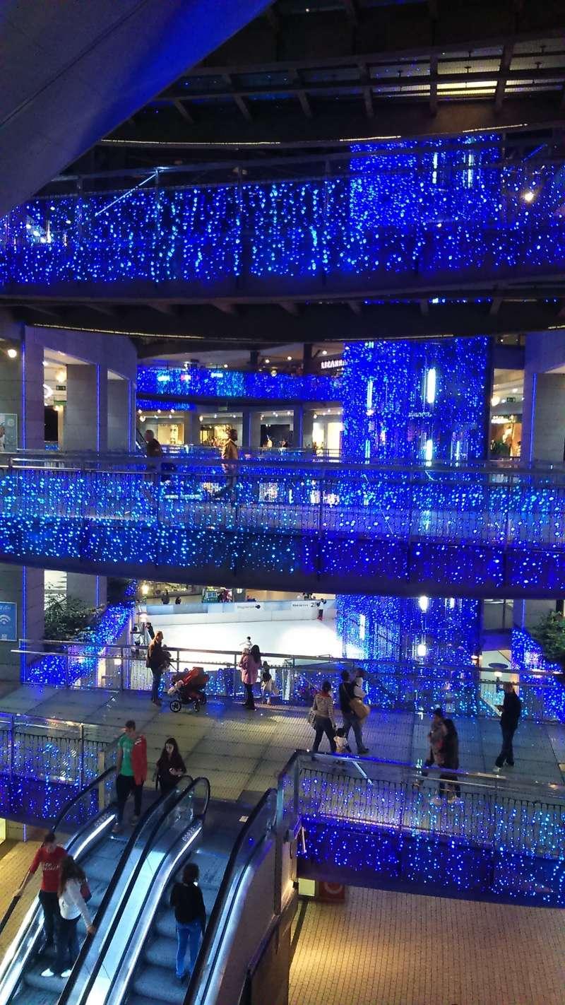 Decoración navideña en Aqua Multiespacio.