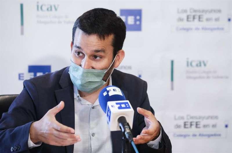 El conseller de Educación, Cultura y Deporte, Vicent Marzà, durante los Desayunos de la Agencia EFE