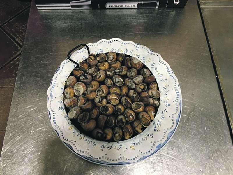 Caracoles del Restaurante Nazaret. epda