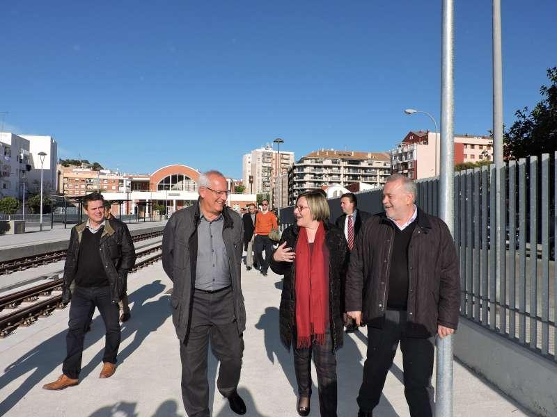 Visita de la consellera, Mª José Salvador, a las obras finalizadas de la Línea 9 del TRAM. EPDA