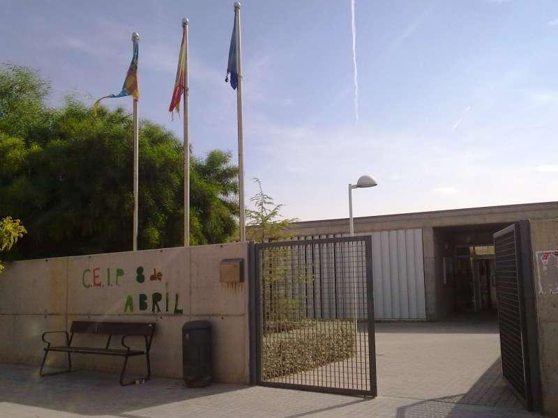 El CEIP 8 de Abril de San Antonio. //EPDA
