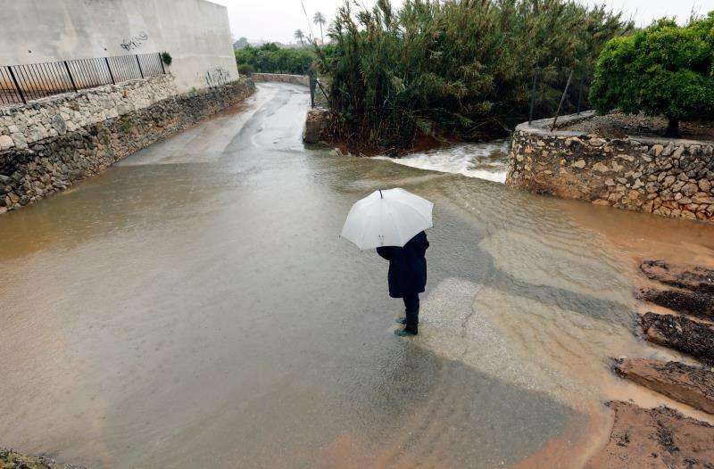 Imagen de Xàbia (Alicante), donde se han recogido 302 litros por metro cuadrado en 24 horas. EFE