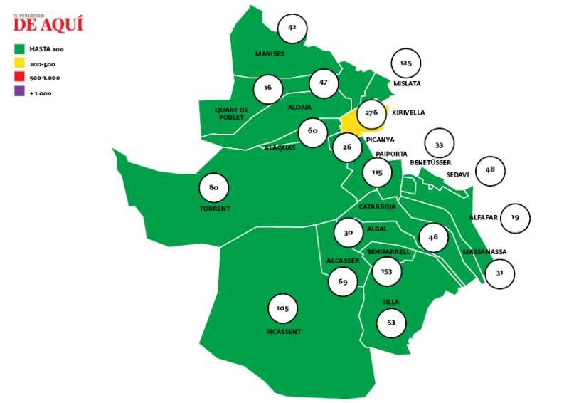 Mapa horta sud. EPDA