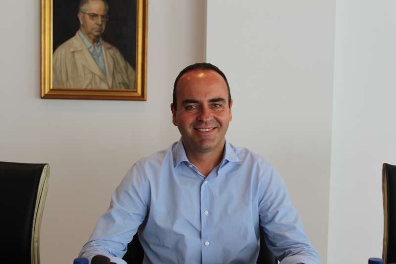 El portavoz de Ciudadanos (Cs) en el Ayuntamiento de Vila-real, Domingo Vicent. EPDA