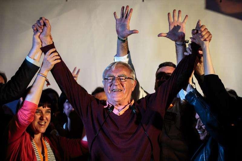 Joan Ribó celebrando los resultados obtenidos. FOTO EFE