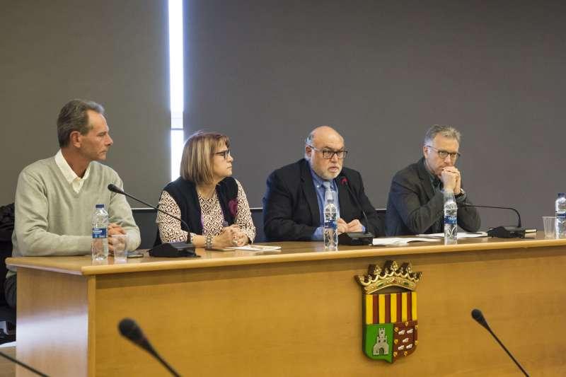 Alcaldesa y concejal de Picassent con el Secretario Autonómico, Francisco Rodríguez, y al Director General, Roger Llanes. EPDA