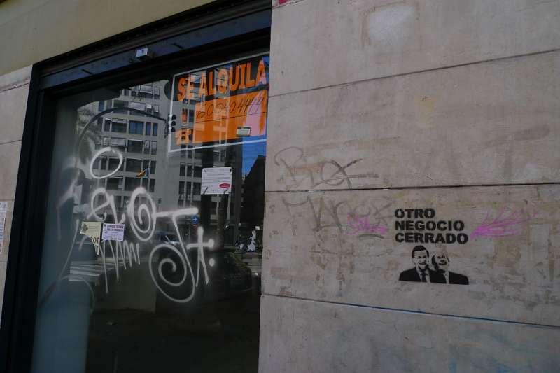 Negocio cerrado en València. Foto: Nacho Pintos
