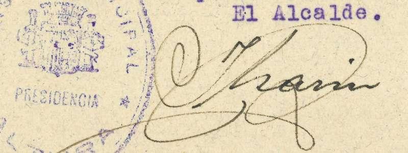 Firma del exalcalde