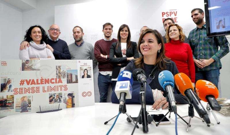 La primera teniente de alcalde y portavoz socialista del Ayuntamiento de València, Sandra Gómez. EFE/Archivo