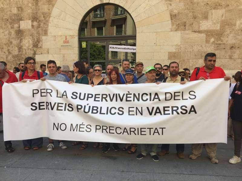 EUPV acompanya als empleats en la jornada de vaga d