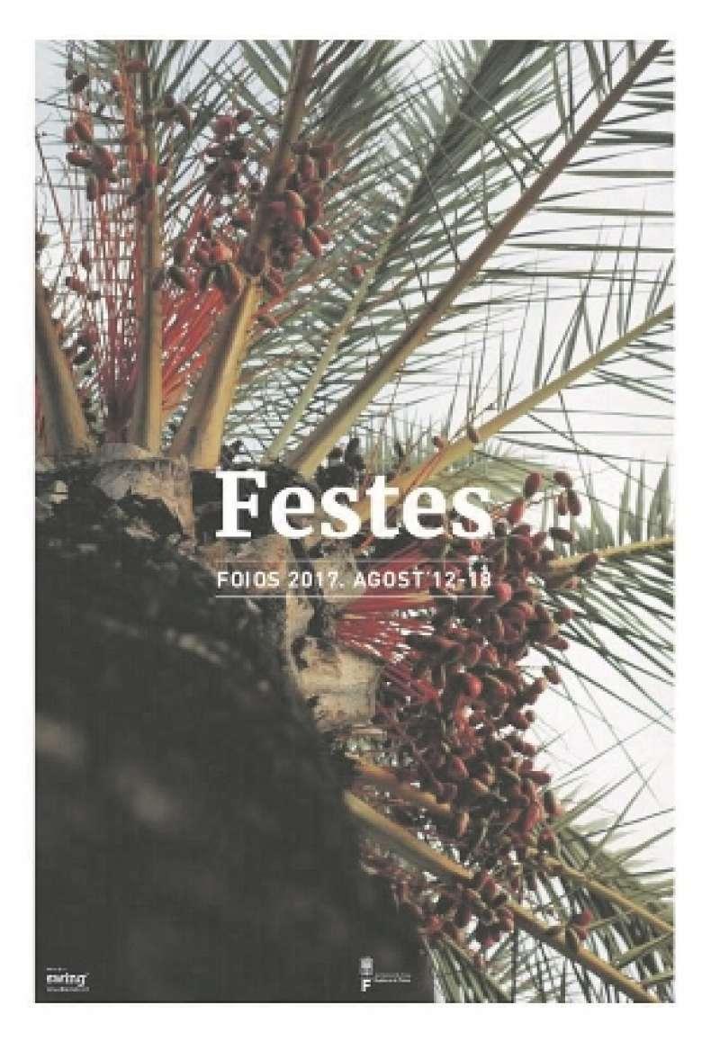 Cartell de les festes de Foios. EPDA