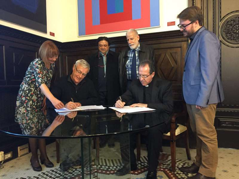 Instant de la firma del conveni