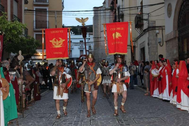 Una de las recreaciones históricas del festival del año pasado. EPDA