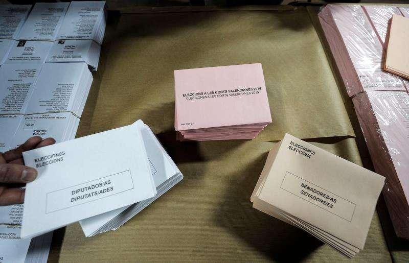 Papeletas de elecciones. EPDA