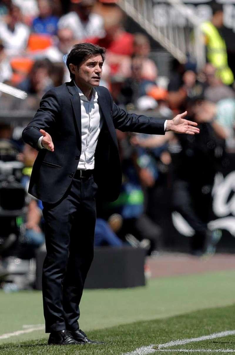 El entrenador del Valencia Marcelino García Toral, durante un partido del Valencia. EFE/Archivo