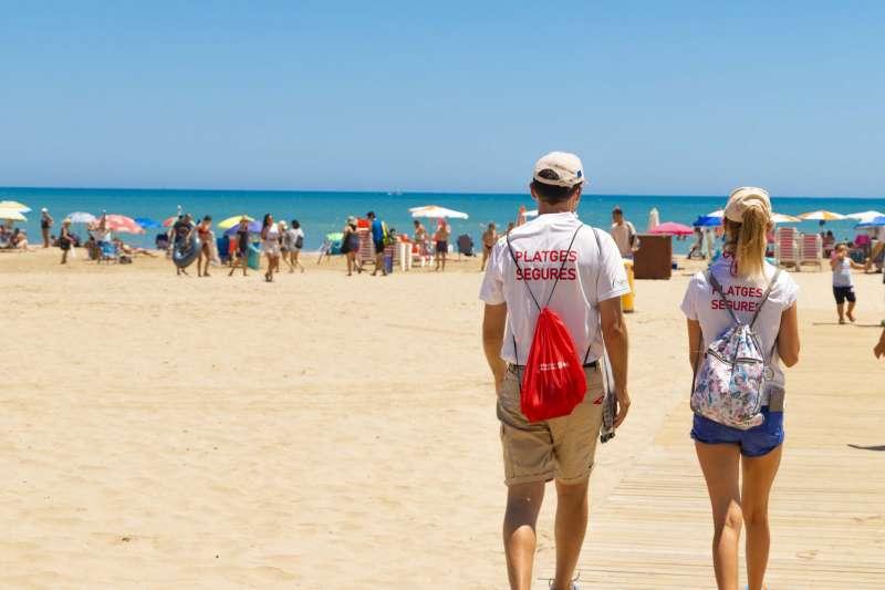 Informadors de platges de Cullera./EPDA