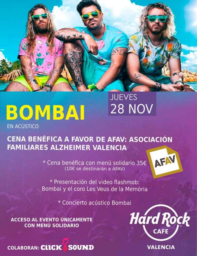 Cartel cena benéfica Hard Rock Valencia. -EPDA