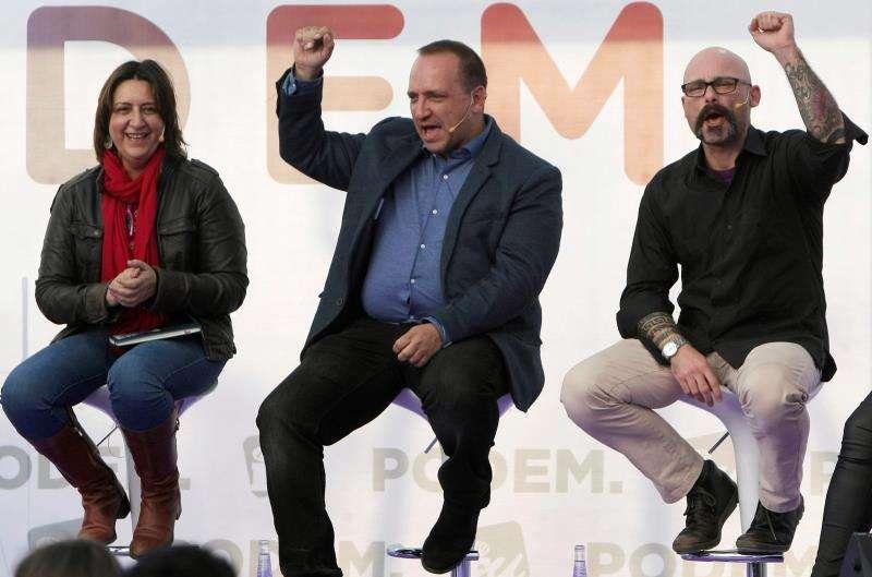 El síndic de Unidas Podemos, Rubén Martínez Dalmau (c). EFE/Archivo