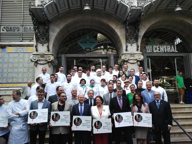 El conseller de Economía, Industria, Turismo y Empleo ha asistido junto a la alcaldesa de Valencia al acto de presentación en el Mercado Central de Valencia. FOTO: GVA