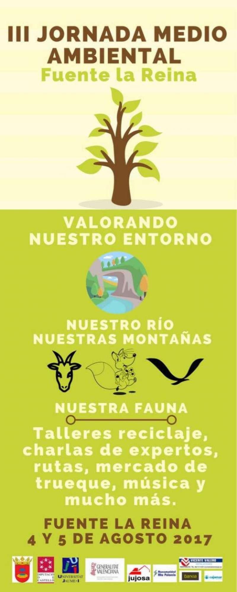 Cartel de las jornadas medioambientales en Fuente la Reina. EPDA