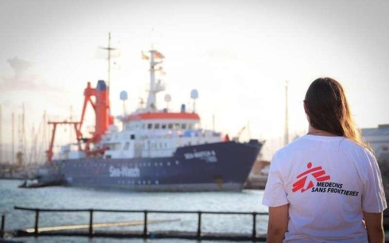 El barco de la ONG. EFE