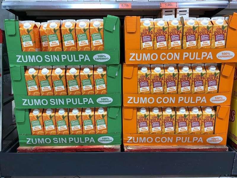 Lineal de zumos de naranjas. EPDA