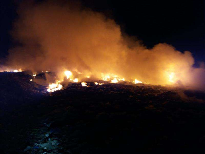 Incendio en Requena. EFE