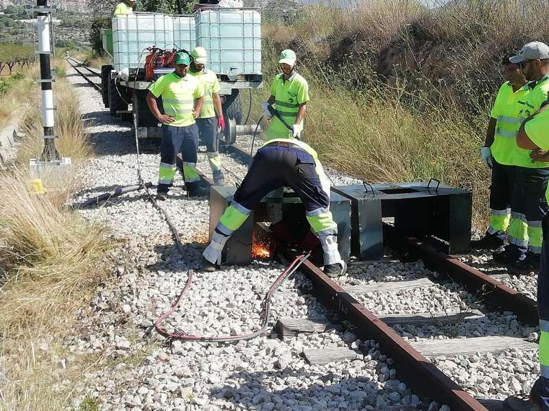 Obras en la Línea 9