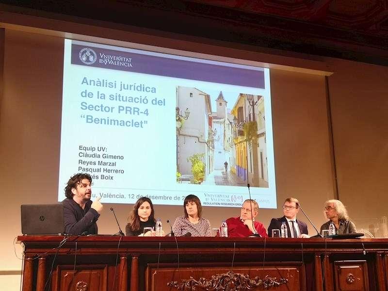 Presentación en la Universitrat de València del estudio sobre el PAI Benimaclet Este. EFE