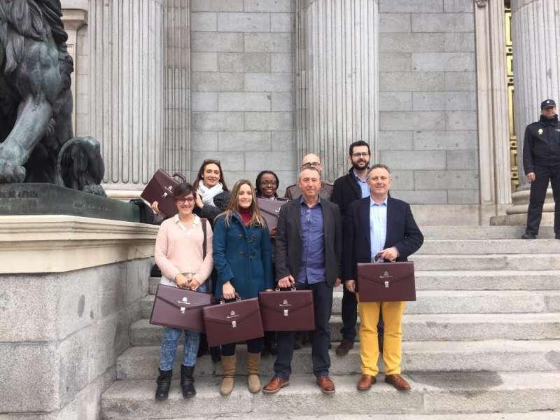 Els diputats de Compromís a Madrid. FOTO COALICIOCOMPROMIS.NET
