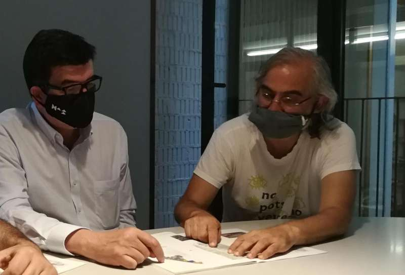 Reunión de Fernando Giner en Benimaclet