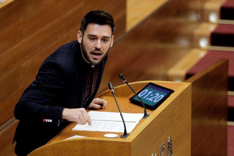 El portavoz de Compromís en Les Corts, Fran Ferri, en una imagen reciente. EFE
